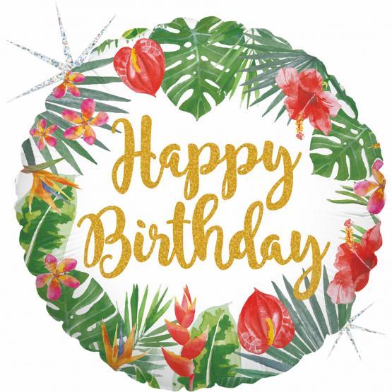 1 Folienballon Tropical Birthday
