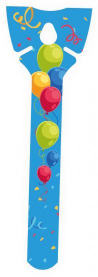 Öko-Ballonhalter blau/ Eco Balloon Holder blue