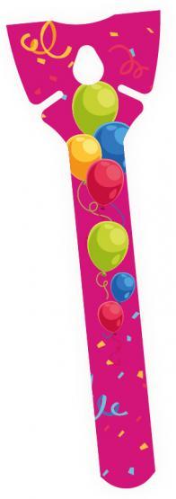 1 Öko-Ballonhalter fuchsie/ Eco Balloon Holder fuchsia