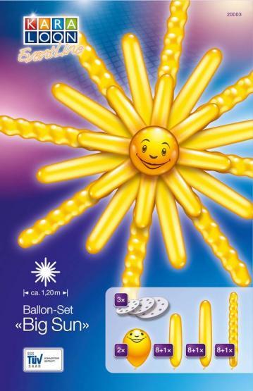 1 Balloon Set Big Sun