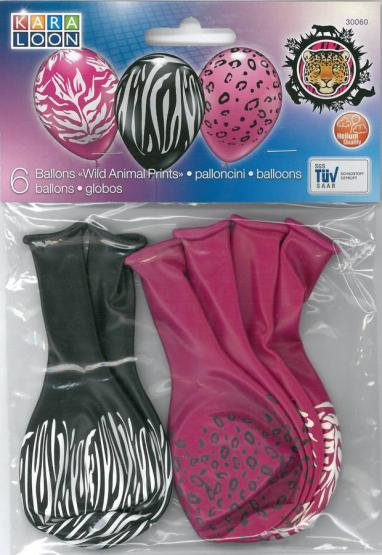 "6 Balloons ""Wild Animal Print"" -Special Offer -"