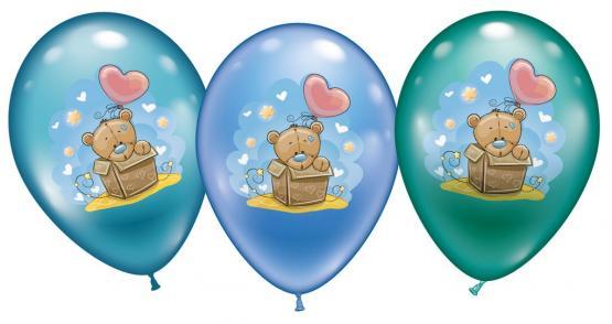 6 Ballons Baby  Teddy - Sonderpreis