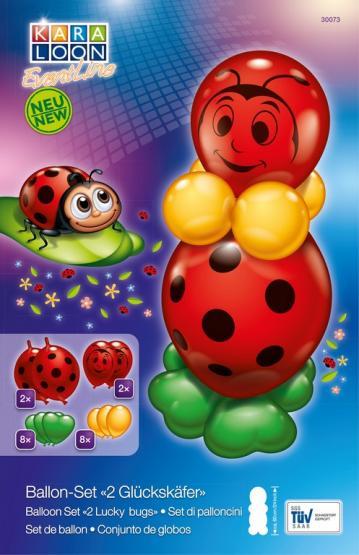 Ballon-Set  2 Glückskäfer 20 tlg.