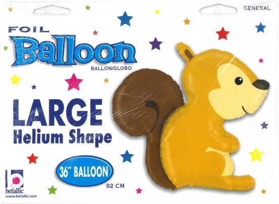 1 Foil Balloon Woodland squirrel