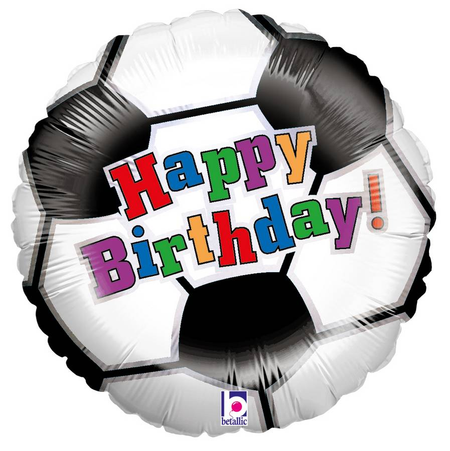 Karaloon Shop | 1 Foil Balloon Happy Birthday Soccer