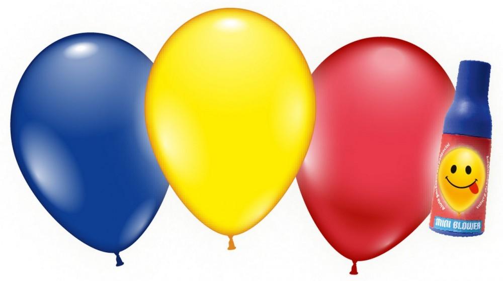 3 Ballons + Aufblashilfe