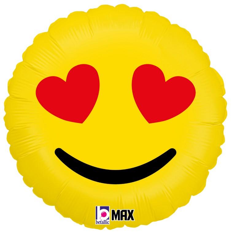 1 Folienballon Emoji Herzen