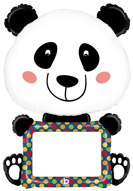 1 Folienballon Panda beschreibbar + Stift